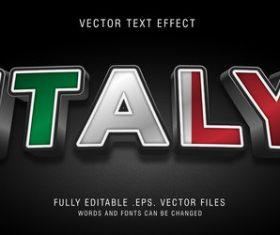 ITALY vector editable text effect