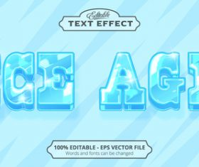Ice age text effect vector