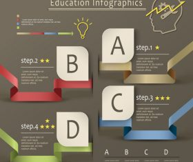 Infographic option background vector
