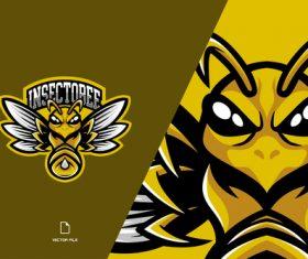 Insectobee sport logo vector