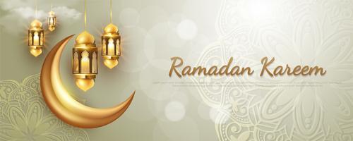 Islamic style card vector