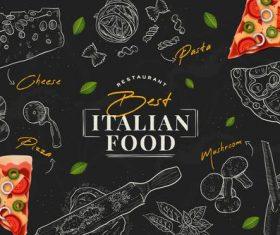 Italian food vector