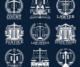 Justice logo design vector