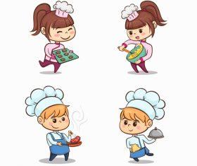 Kids chef vector