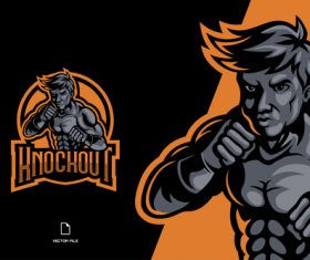 Knockout sport logo vector