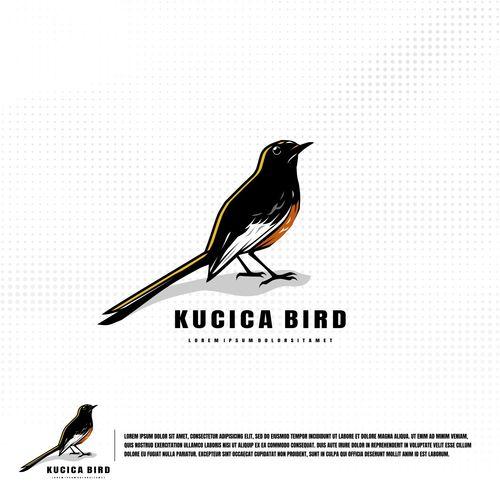 Kucica bird logo vector