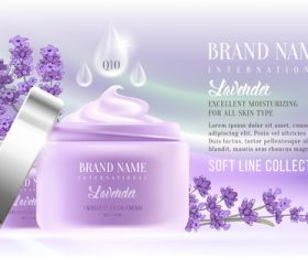 Lavender cosmetic advertising vector