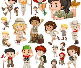 Lets go adventure cartoon vector