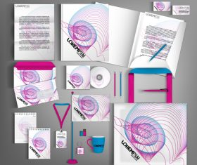 Line background business template vector