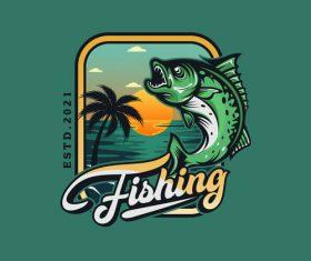 Logo design fishing vector