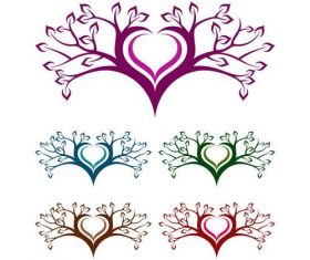Love tree logo design vector