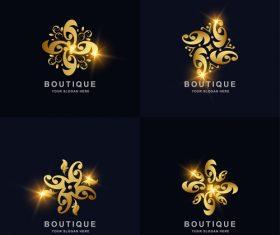 Magic flower logo vector