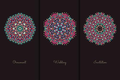 Magical circle mandala pattern vector