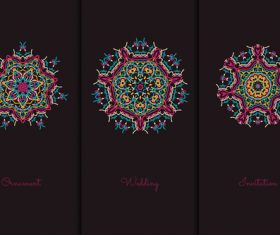 Mandala red pattern vector