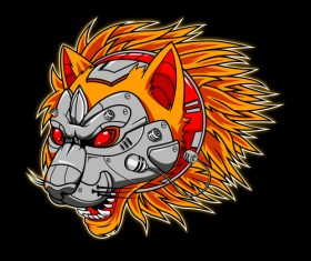 Mechanical beast esports logo vector