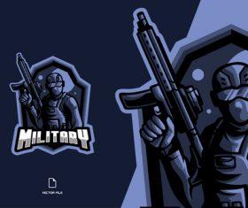 Military sport logo vector