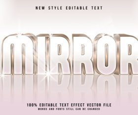 Mirror 3D emboss luxury style vector