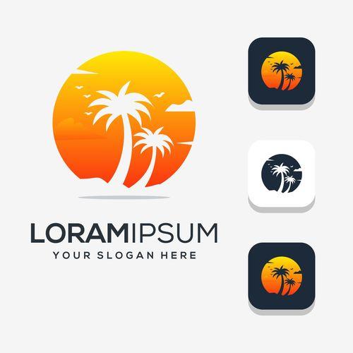 Modern summer logo vector design