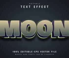 Moon vector editable text effect