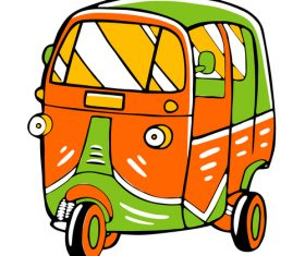 Motor tricycle vector