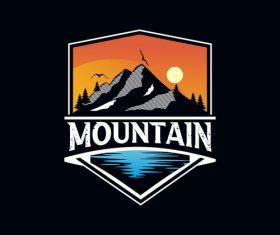 Mountain adventure logo vector