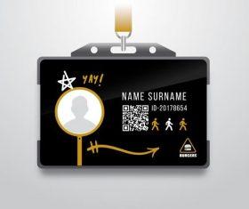 Name badge vector