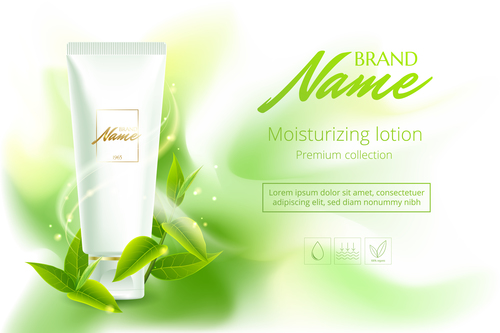 Natural cosmetic advertising vector