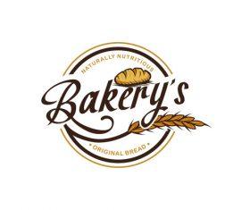 Naturally nutritious bakery logo vector