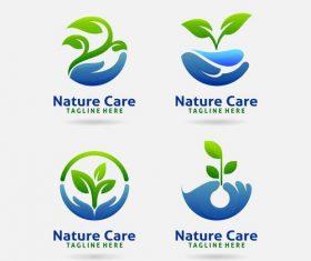 Nature care logo vector