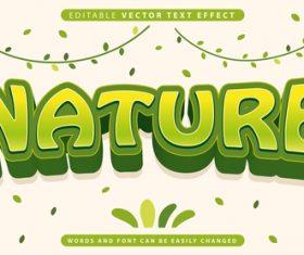 Nature editable vector text effect vector