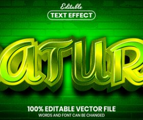 Nature text font style vector