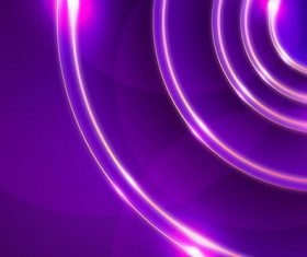 Neon circle abstract background vector