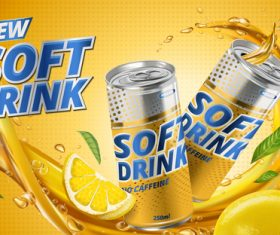 New flavor soft drink ad vector