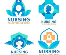 Nice design Nursing logo vector