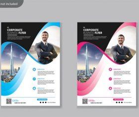 Novel cover version business flyer vector