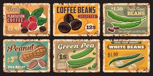 Nuts food advertising vector
