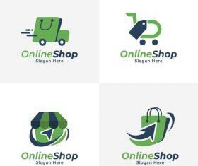 Online store logo vector