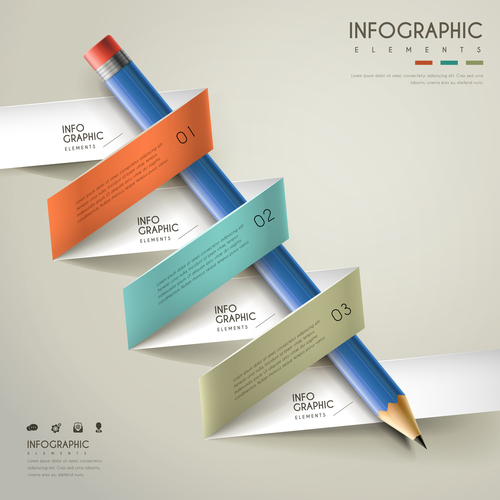 Option infographic background vector