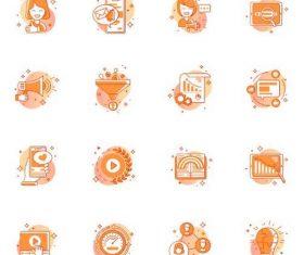 Orange color icon vector