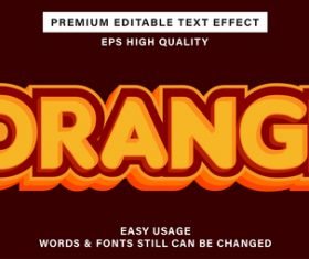 Orangee text effect new style vector