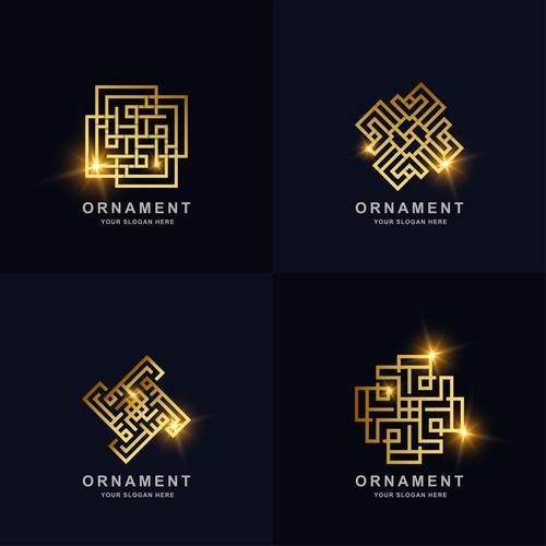 Ornament abstract logo vector
