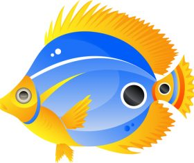 Ornamental fish vector