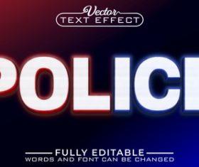 POLICE vector editable text effect