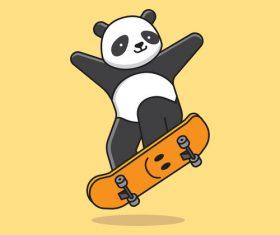 Panda sport vector