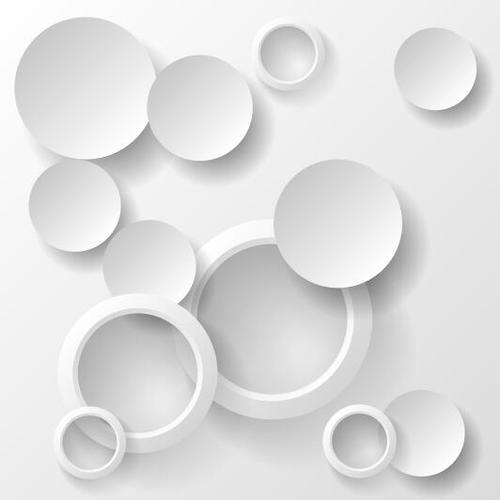 Paper cut round abstract background vector