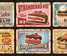 Pastry food advertisement vector