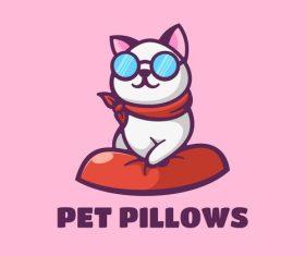 Pet pillows vector
