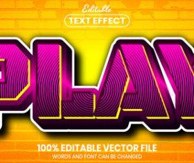 Play text font style vector