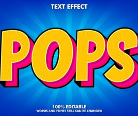 Pops 3D color style vector