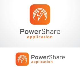 Power share design logo vector